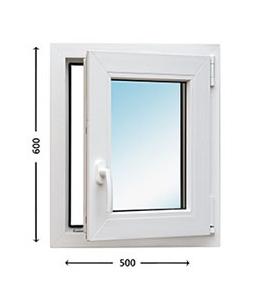 Оконный блок 600x500