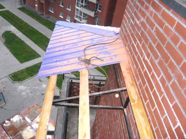 Как сделать козырек на балкон своими руками.